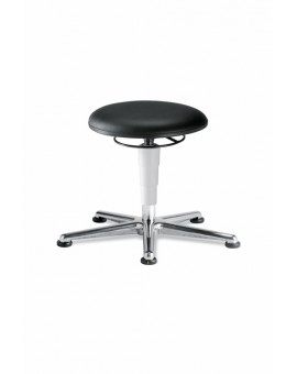 Cleanroom stool glides, seat height of 460-630 mm, upholstery Artificial leather, Ref: 9467R