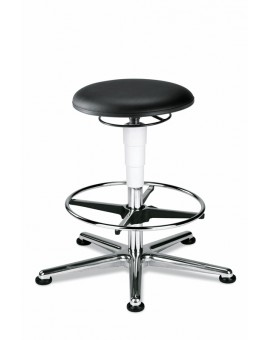 Cleanroom stool glides with footrest, seat height of 570-850 mm, upholstery Artificial leather, Ref: 9469R