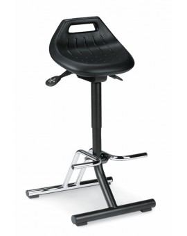 Sit-Stand folding footrest, seat height of 640-840 mm, PU foam, Ref: 9456