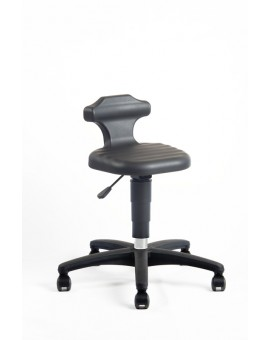 Flex stool, seat height of 450-650 mm, integral foam plastic base, on castors, Ref: 9408