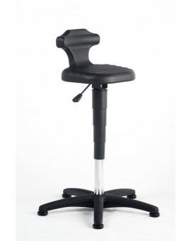 Flex seat height of 510-780 mm, integral foam plastic base on glides, Ref: 9409