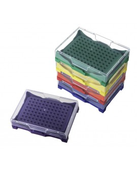 PCR Disposables Storage Rack with Clear Lids, Assorted Colors, Autoclavable, 2721-229-000-9