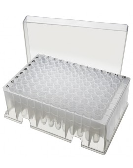 PurePlus® 1.2 mL Sample Library Tubes, In Strips of 8, in 96 Racks, Autoclavable, 3911-540-000-9