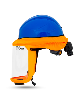 Helmet CA-4 with breathing system, ear muffs and impact visor polycarbonate