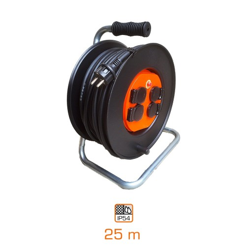 Cable drum IP 54 25 m  H07RN- F  3G2,5 - Made In Europe