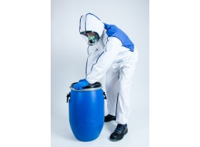 Coverall with ventilated back
